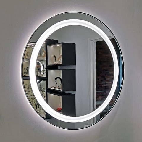Большое круглое зеркало с подсветкой Айрон Глобал - купить в Москве в интернет-магазине AVA   Дизайнерские зеркала